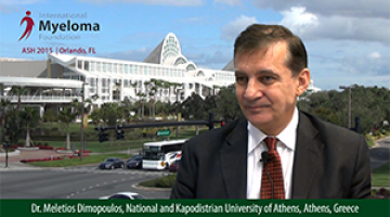 Dr. Meletios Dimopoulos at ASH 2015