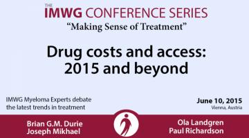 IMWG Myeloma Experts June 10, 2015:  Drs. Brian Durie, Joseph Mikhael, Ola Landgren, and Paul Richardson
