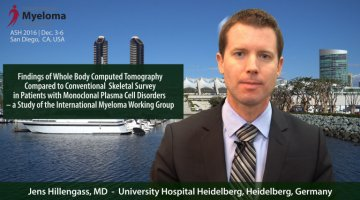 Jens Hillengass, MD at ASH convention 2016