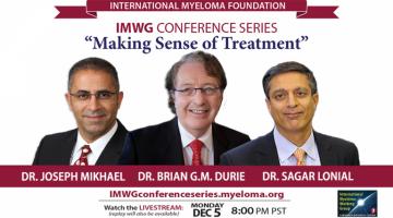Drs. Brian G.M. Durie, Joseph Mikhael, and Sagar Lonial at ASH 2016