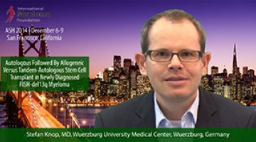 Stefan Knop, MD at ASH convention 2014