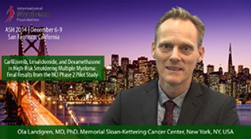 Dr. Ola Landgren at ASH 2014 convention