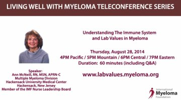 Ann McNeill RN, MSN, APRN-C Living well with myeloma