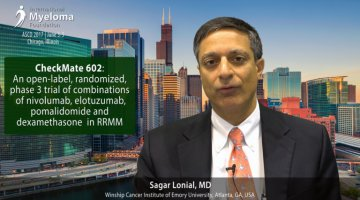 Sagar Lonial, MD talks A phase 3 trial of combinations of nivo, elo, pom and dex in RRMM at ASCO 2017