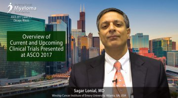 Dr. Sagar Lonial talks about the multiple myeloma clinical trials at ASCO 2017