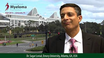 Dr. Sagar Lonial at ASH 2015