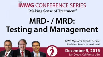 MRD Discussion at the 58th Annual ASH Meeting in San Diego, California