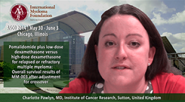 Charlotte Pawlyn, MD AT ASCO convention 2014