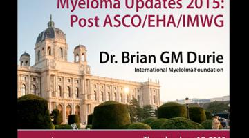Myeloma Updates 2015: Post ASCO/EHA/IMWG