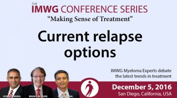 Relapse discussion at the 58th Annual ASH Meeting in San Diego, California