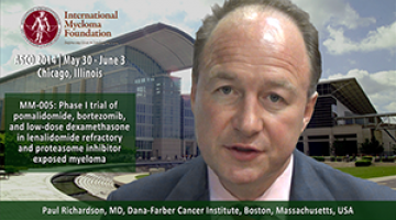 Paul Richardson, MD at ASCO convention 2914