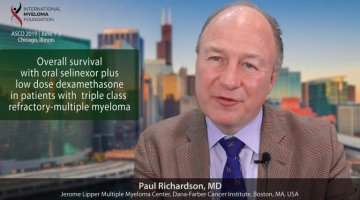 title card for Dr. Paul Richardson's abstract presented at ASCO 2019