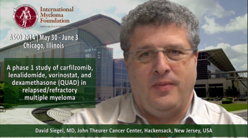 David Siegel, MD AT ASCO convention 2104