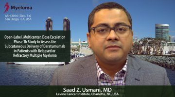 Saad Z. Usmani, MD at ASH convention in 2016