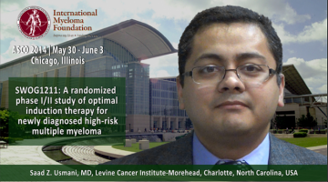 Saad Z. Usmani, MD at ASCO 2014