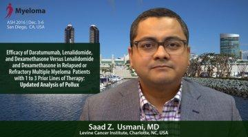 Saad Z. Usmani, MD at ASH 2017