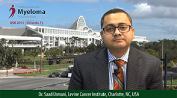 Dr. Saad Usmani at ASH 2015